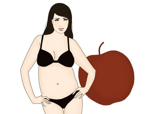 ожирение яблоко