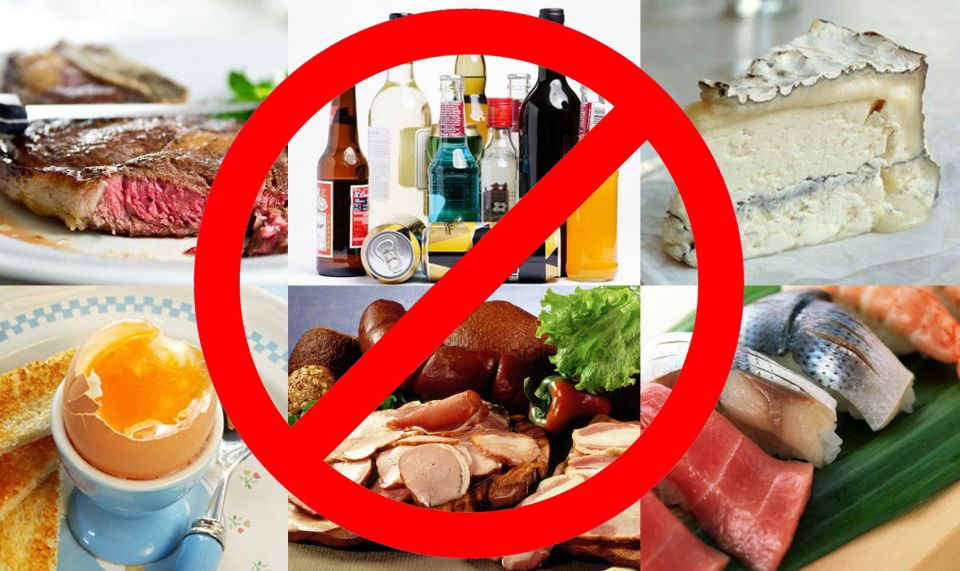 запрещенные при холецистите продукты
